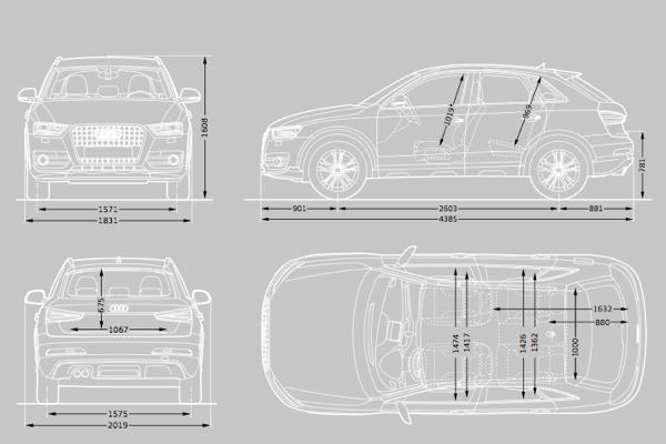 audi q3 dimensions  u2013 uk exterior and interior sizes