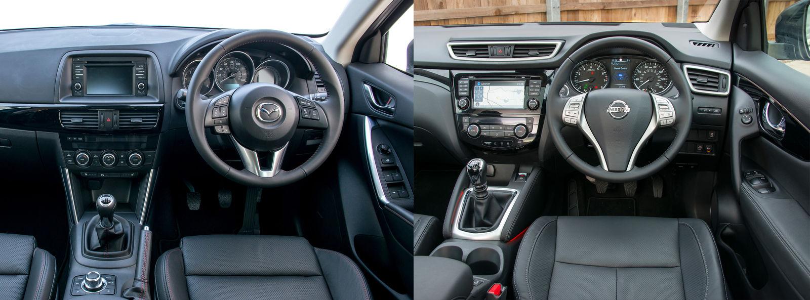 Nissan Qashqai Vs Mazda Cx 5 Side By Side Uk Comparison