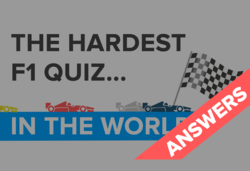 The world's hardest F1 quiz – the answers