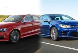 Volkswagen Golf R vs Audi S3 – side-by-side super-hatch face off