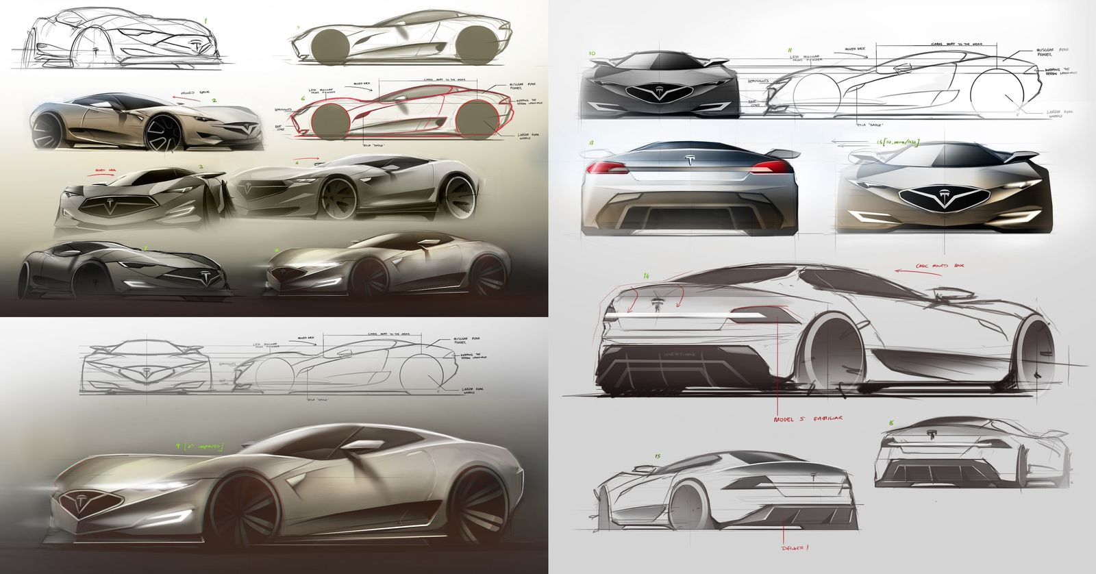 2016 Tesla Model R hypercar concept: design sketches | carwow