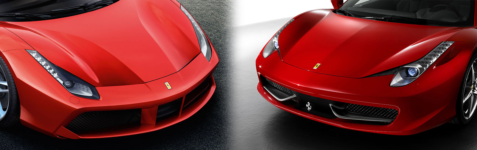488 gtb on the left 458 italia on the right