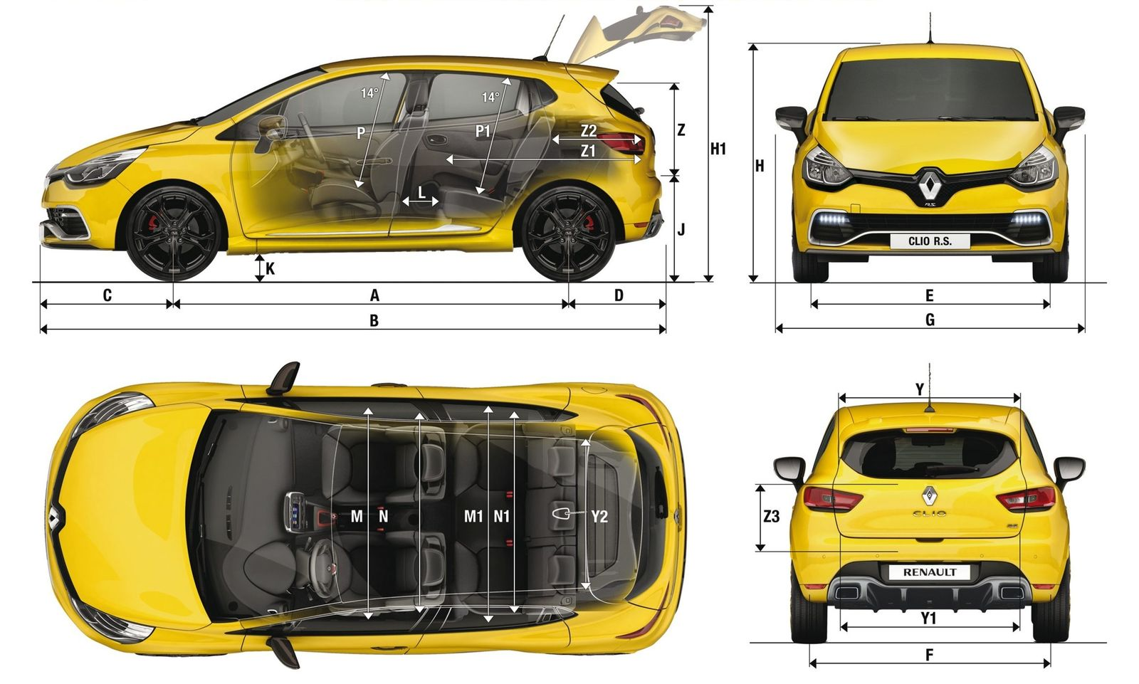 dimension clio 4 clio iv dimensions the automobilist du nouveau chez renault la clio gagne du. Black Bedroom Furniture Sets. Home Design Ideas