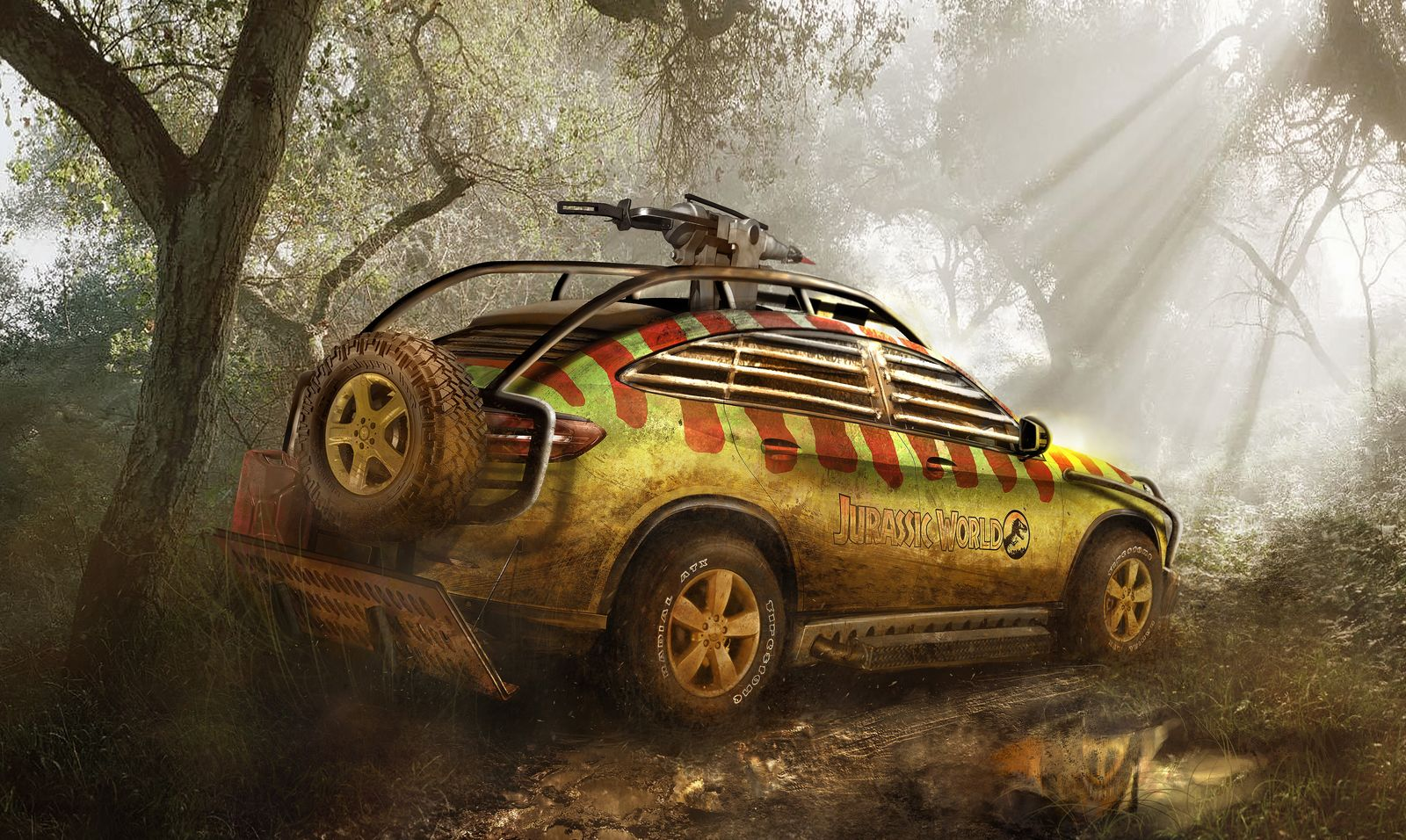 2015 Mercedes GLE reimagined and modified for Jurassic ...
