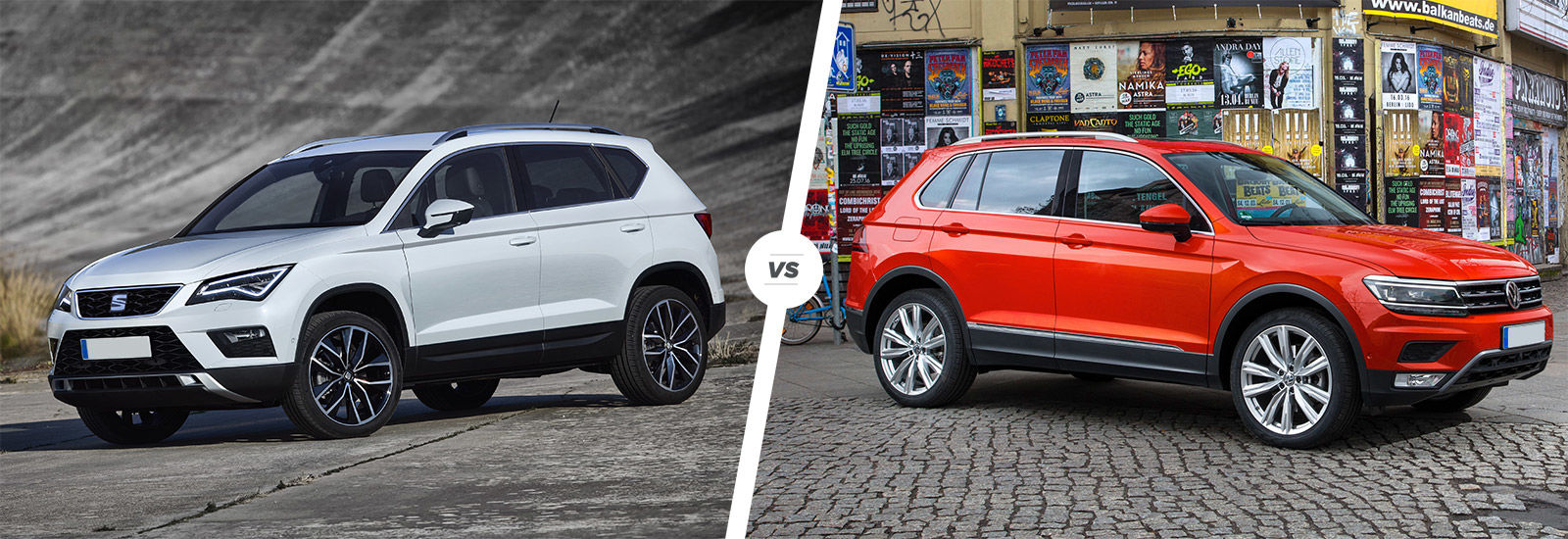 seat ateca vs vw tiguan suv comparison carwow. Black Bedroom Furniture Sets. Home Design Ideas