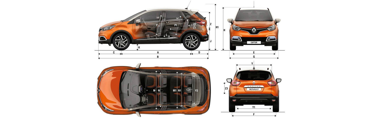 renault captur sizes and dimensions guide carwow. Black Bedroom Furniture Sets. Home Design Ideas