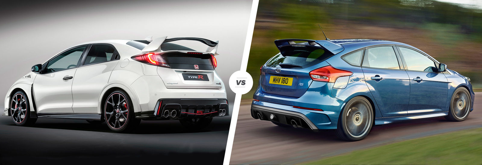honda civic type r vs ford focus rs carwow