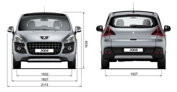 peugeot 3008 dimensions uk exterior and interior sizes carwow. Black Bedroom Furniture Sets. Home Design Ideas