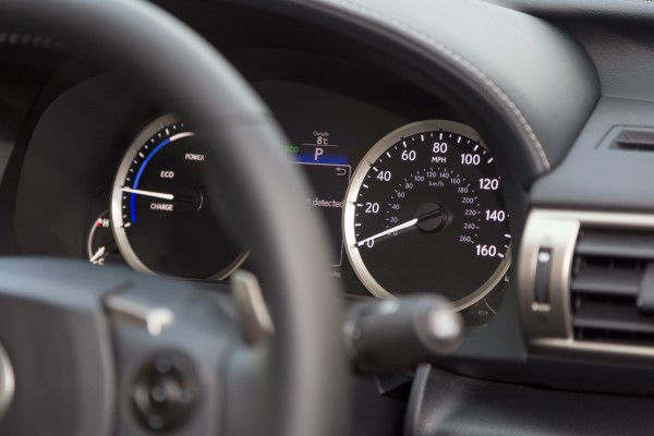 Lexus IS 300h dials
