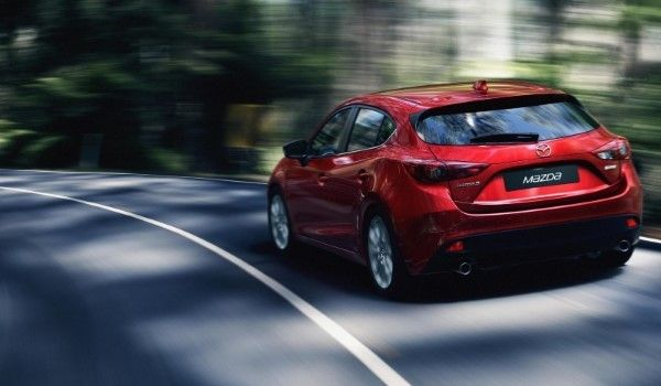 New Mazda 3 rear driving