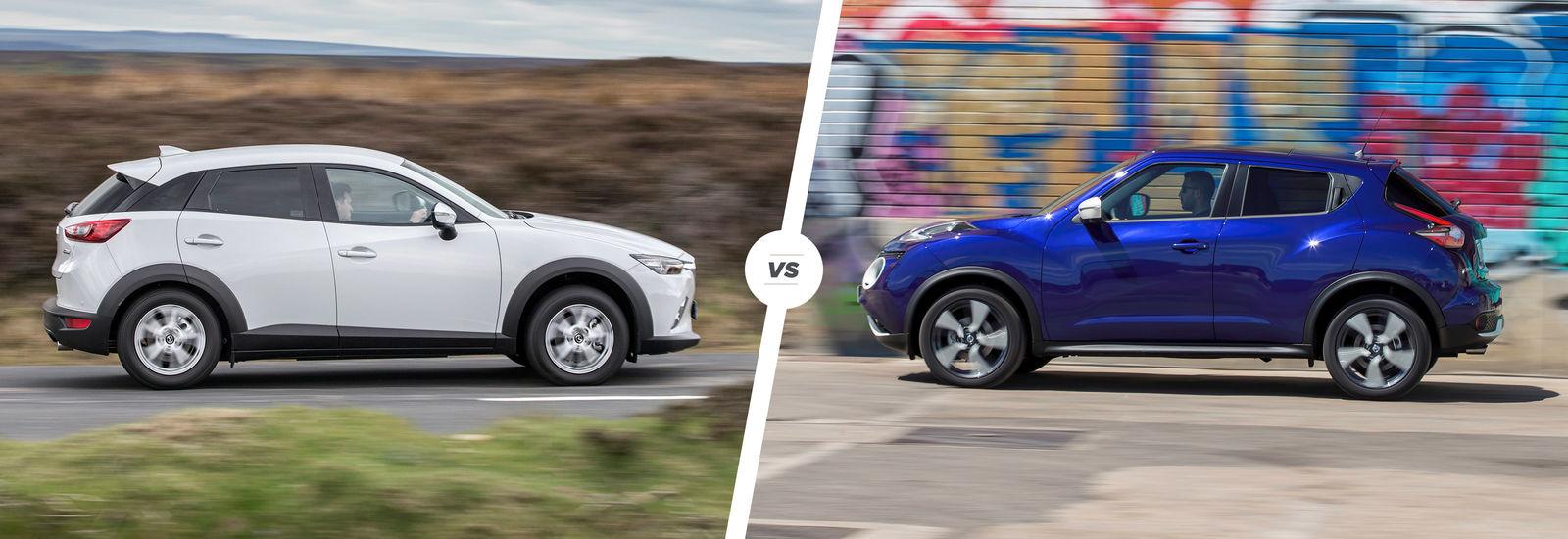 Mazda CX3 vs Nissan Juke crossover clash  carwow