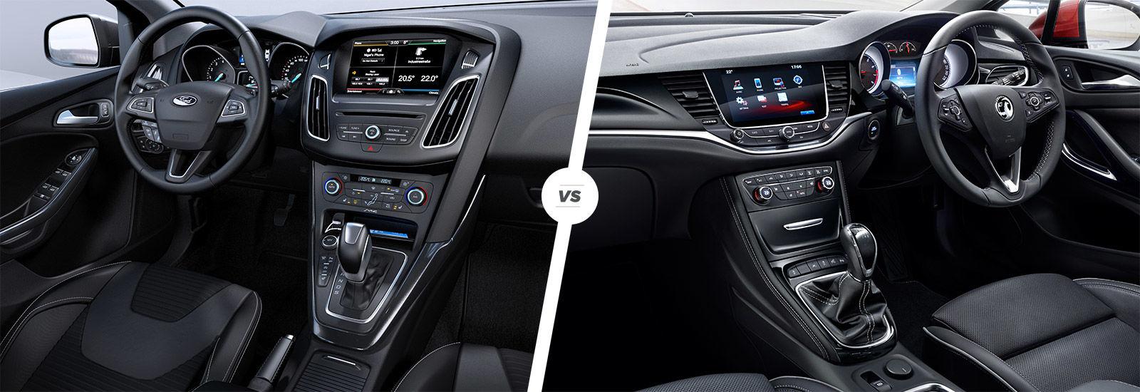 Ford Focus Vs Vauxhall Astra Interior