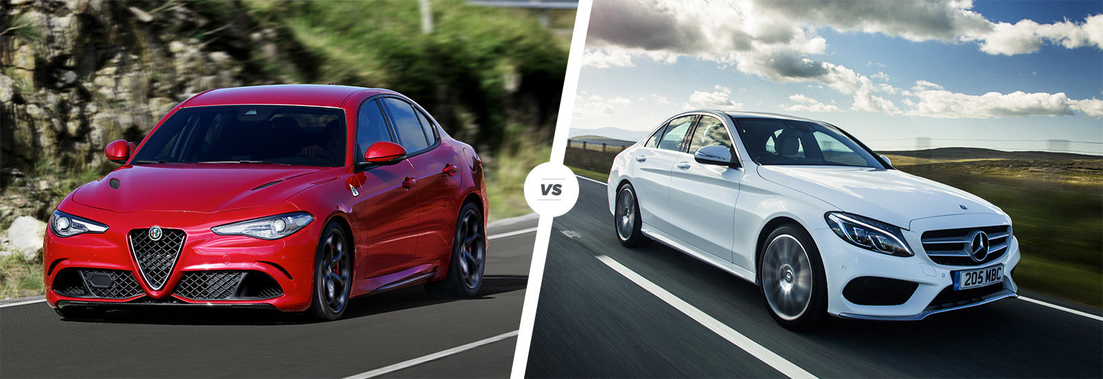 Alfa romeo giulia vs mercedes c class carwow for Alfa romeo vs mercedes benz