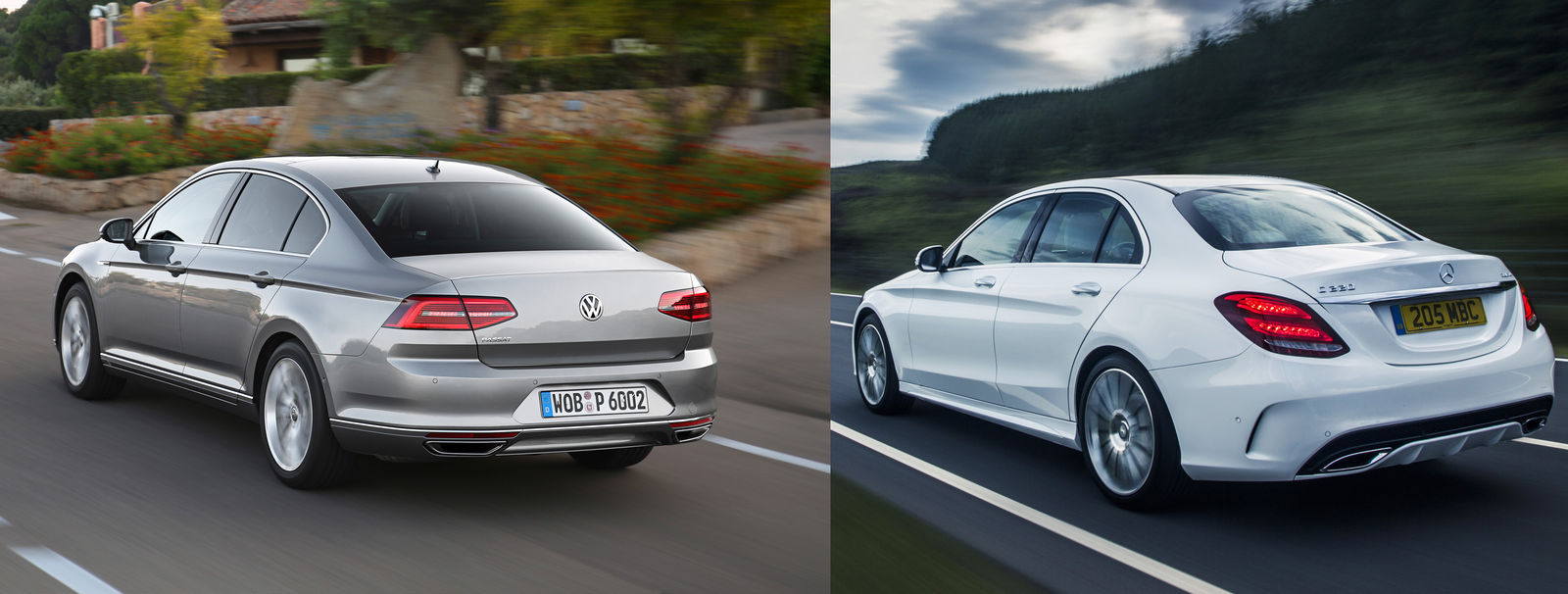 2015 volkswagen passat vs mercedes c-class – side-by-side uk