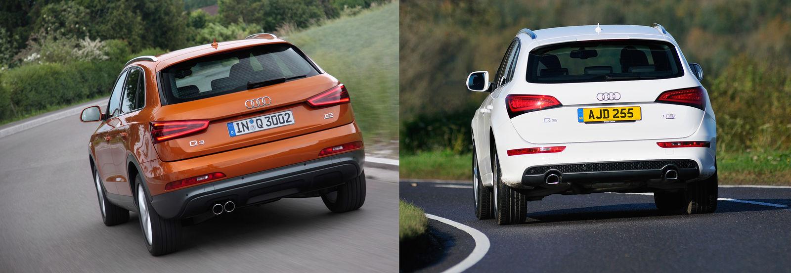 Audi Q3 Vs Audi Q5 Side By Side Uk Comparison Carwow