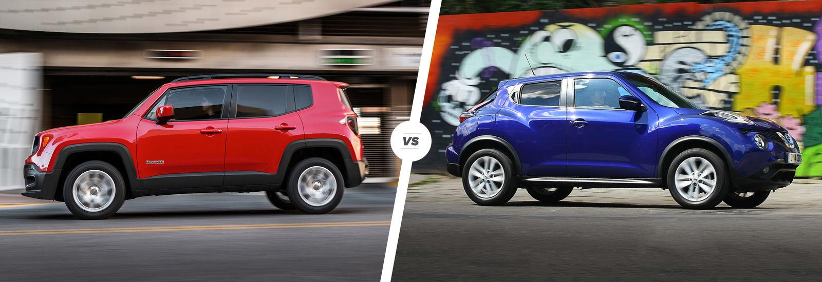 jeep renegade vs nissan juke crossover clash carwow. Black Bedroom Furniture Sets. Home Design Ideas