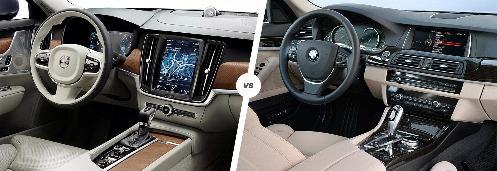 Volvo S90 vs BMW 5 Series sidebyside comparison  carwow