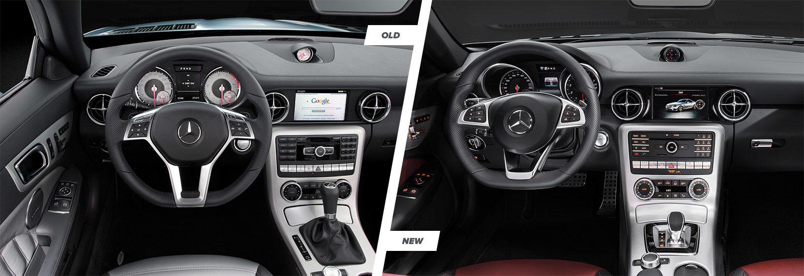 Mercedes Slc Vs Slk Facelift Comparison Carwow