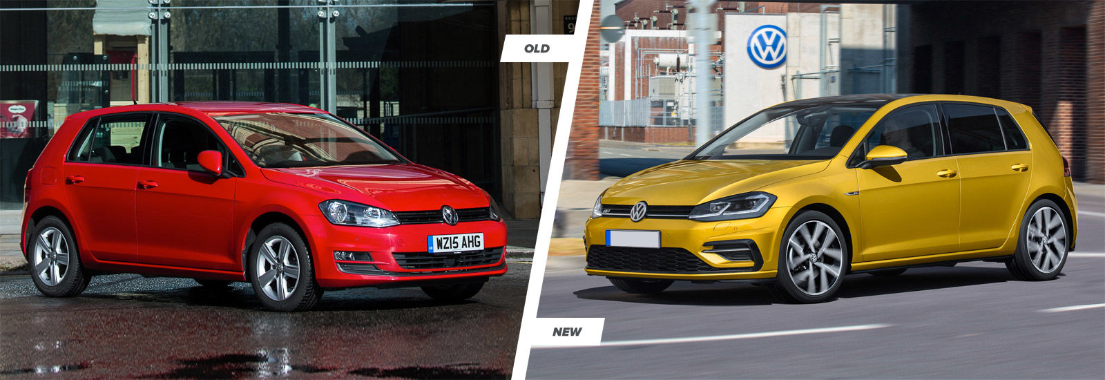 2017 vw golf mk7 facelift old vs new styling