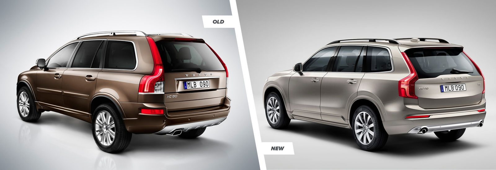 2015 volvo xc90 old vs new side by side comparison carwow. Black Bedroom Furniture Sets. Home Design Ideas