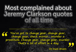 Complained about jeremy clarkson quotes