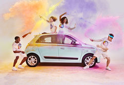 Renault celebrates sponsorship of the color run with special edition twingo 7