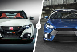 Honda Civic Type R vs Ford Focus RS showdown