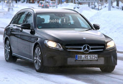 Mercedes c class estate facelift front lead